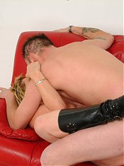 Mature couple doing tha nasty on the couch