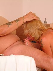 Blonde mature slut sucking and fucking hard